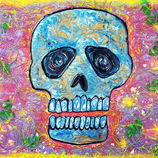 Art: Marble Skull by Artist Laura Barbosa