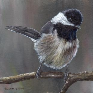 Art: Mexican Chickadee by Artist Janet M Graham