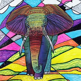 Art: The Mighty Elephant by Artist Laura Barbosa