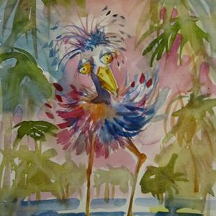 Art: Tropical Bird by Artist Delilah Smith