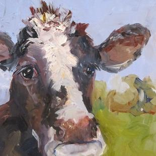Art: Cow No. 6 by Artist Delilah Smith