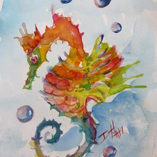 Art: Fancy Seahorse by Artist Delilah Smith