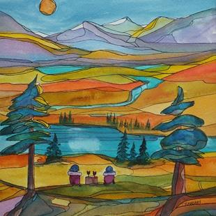 Art: At Peace in the Mountains (sold) by Artist Kathy Crawshay