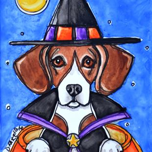 Art: Witchy the Beagle by Artist Melinda Dalke