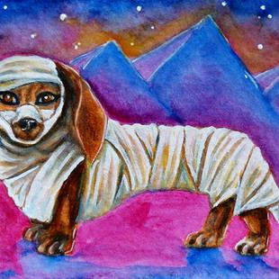 Art: Mummy Weenie  (SOLD) by Artist Monique Morin Matson