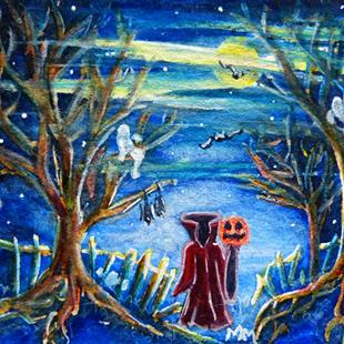 Art: Ghostly Night  (SOLD) by Artist Monique Morin Matson