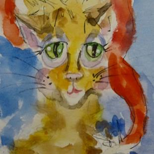Art: Christmas Cat by Artist Delilah Smith