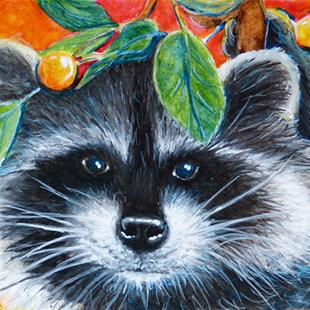 Art: Raccoon Face  (SOLD) by Artist Monique Morin Matson