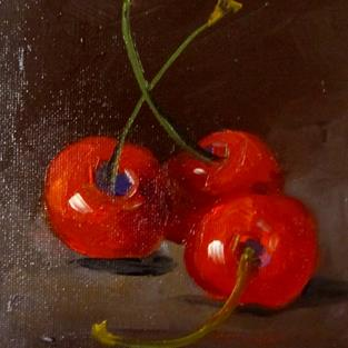 Art: Red Cherries by Artist Delilah Smith