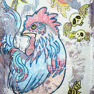 Art: Rooster Road by Artist Laura Barbosa