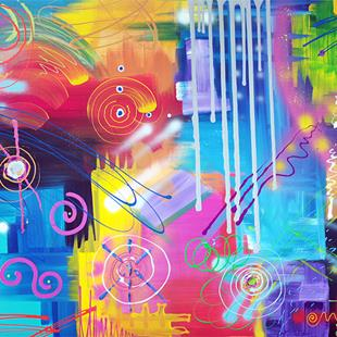 Art: Vivid Thoughts 2 by Artist Laura Barbosa