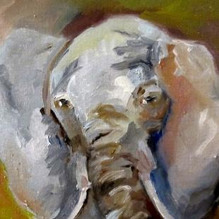 Art: Elephant-sold by Artist Delilah Smith