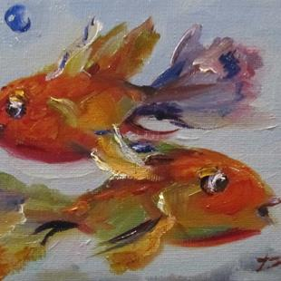 Art: Two Fish by Artist Delilah Smith