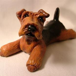 Art: Airedale Or Welsh Terrier by Artist Camille Meeker Turner
