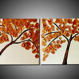 Art: AUTUMN TREES by Artist Kate Challinor