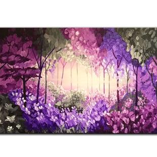 Art: PURPLE FOREST by Artist Kate Challinor