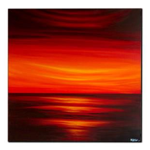 Art: FIRE SKY by Artist Kate Challinor