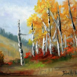 Art: Aspens in the Valley by Artist Barbara Haviland