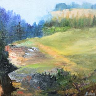 Art: Rock Cliff by Artist Barbara Haviland