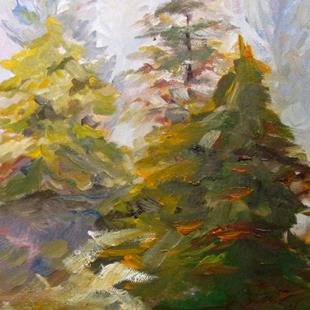 Art: Piney Woods by Artist Delilah Smith
