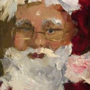 Art: Santa by Artist Delilah Smith