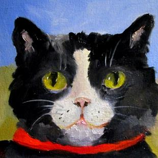 Art: Tuxedo Cat by Artist Delilah Smith