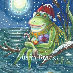 Art: CHRISTMAS WARMS THE HEART by Artist Susan Brack