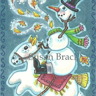 Art: FROSTY THE HEADLESS SNOWMAN by Artist Susan Brack