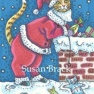 Art: GIFTS OF FISH AND MICE FROM SANTA CLAWS by Artist Susan Brack