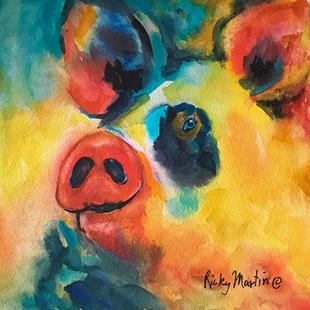 Art: pop pig by Artist Ulrike 'Ricky' Martin
