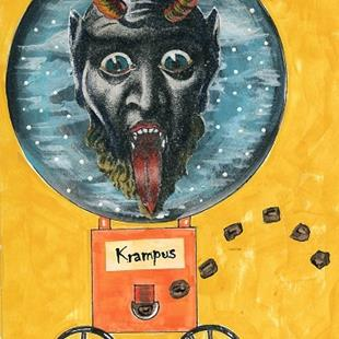 Art: Krampus Coal Machine by Artist Sherry Key