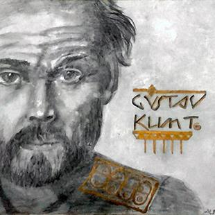 Art: Gustav Klimt Portrait (SOLD) by Artist Alma Lee