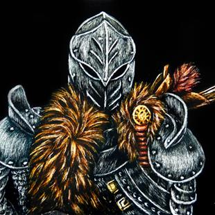 Art: Medieval Knight  (SOLD) by Artist Monique Morin Matson