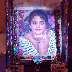 Art: Perfect Sexy Selena Gorgeous Gomez Jeweled ART Box1. by Artist William Powell Brukner