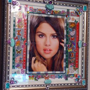 Art: Selena Gomez. by Artist William Powell Brukner