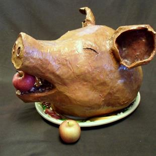 Art: Pig Head, custom commission by Artist Patience