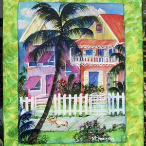 Art: Key West House - SOLD by Artist Ke Robinson