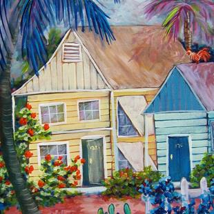 Art: Key West Bungalow by Artist Ke Robinson