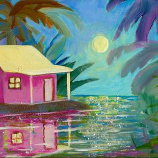 Art: Cottage on the Bay (SD) by Artist Ke Robinson