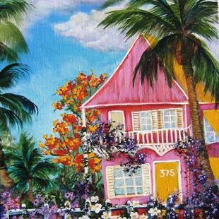 Art: Key West Pink House by Artist Ke Robinson