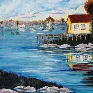 Art: Upper Coast Bait House by Artist Ke Robinson