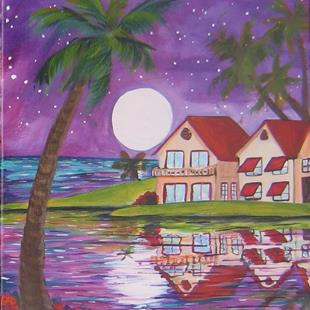 Art: Moon Over Miami  #6014 by Artist Ke Robinson