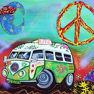 Art: Hippie Trip 2 by Artist Laura Barbosa