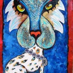 Art: Rich Cat- SOLD by Artist Ke Robinson