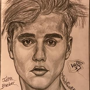 Art: Justin Bieber. by Artist William Powell Brukner