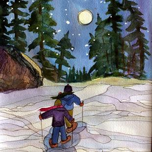 Art: Footprints of Kindness (sold) by Artist Kathy Crawshay