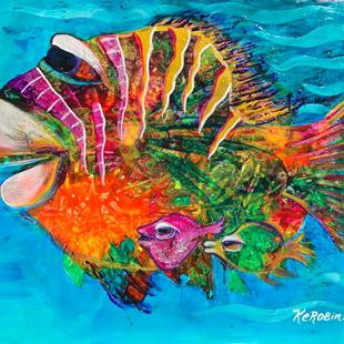 Art: Caribbean Fish #1636 by Artist Ke Robinson