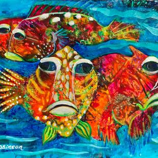 Art: Coral Reef Fish SOLD by Artist Ke Robinson