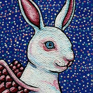 Art: Angel White Rabbit by Artist Melinda Dalke