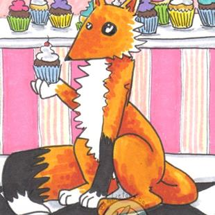 Art: Bakery Fox by Artist Emily J White